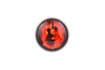 Guitar Fire Lapel Pin Badge