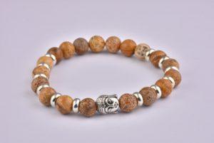 Natural Stone Picasso Buddha Bracelet