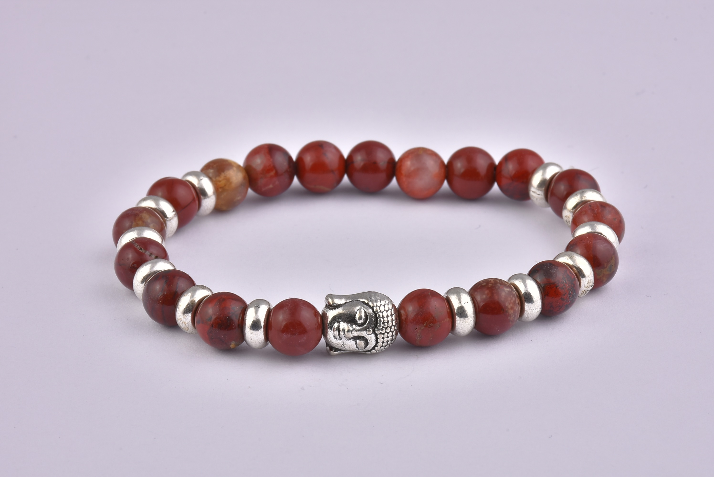 Natural Stone Red Buddha Bracelet