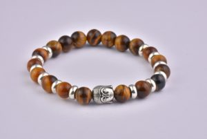 Natural Stone Yellow Tiger Eye Buddha Bracelet