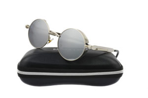 Steampunk Silver Metal Mirror Polarised Sunglasses