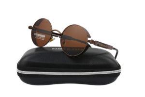 Steampunk Bronze Metal Polarised Sunglasses