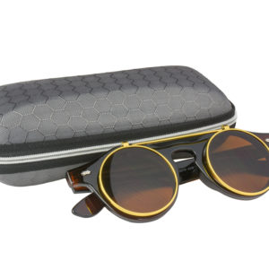 Classic Vintage Brown Polarised Steampunk Sunglasses