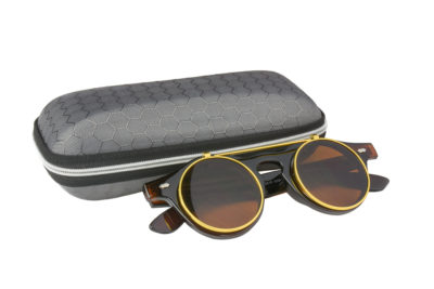 Classic Vintage Brown Polarised Steampunk Sunglasses