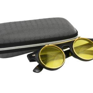 Classic Vintage Yellow Polarised Steampunk Sunglasses
