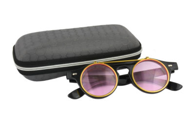 Classic Vintage Pink Polarised Steampunk Sunglasses