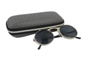 Round Silver Grey Steampunk Sunglasses