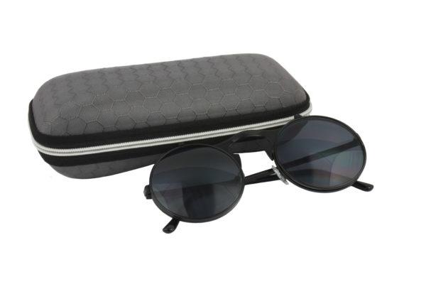 Round Black Steampunk Sunglasses
