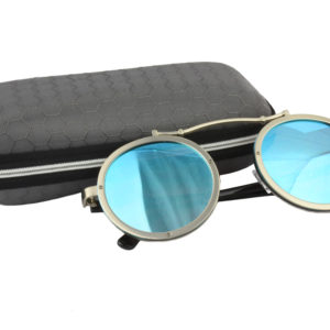 Cool Silver Blue Steampunk Sunglasses