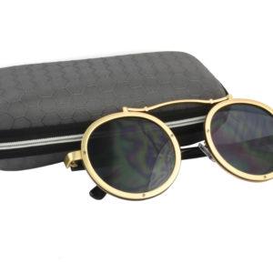 Cool Gold Grey Steampunk Sunglasses