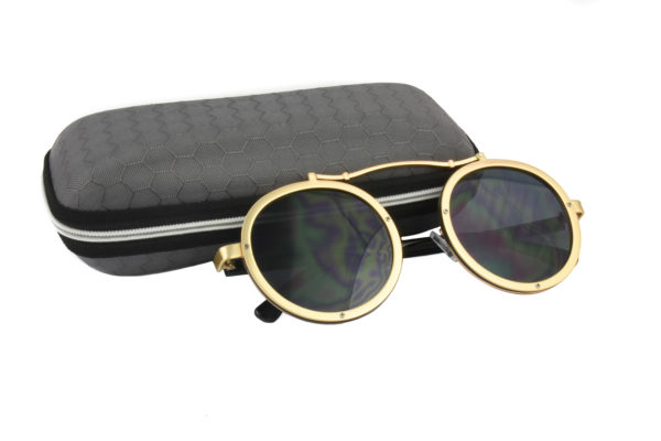 Cool Gold Grey Steampunk Sunglasses