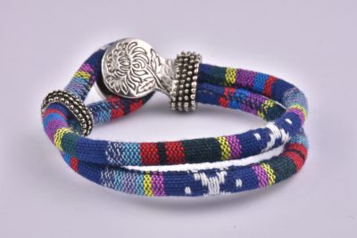 Blue Mix Bohemian Ribbon Bracelet Collection