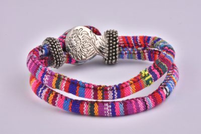 Pink Mix Bohemian Ribbon Bracelet Collection
