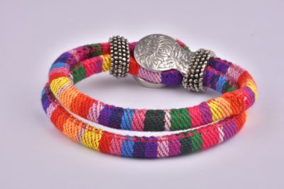 Rainbow Mix Bohemian Ribbon Bracelet Collection