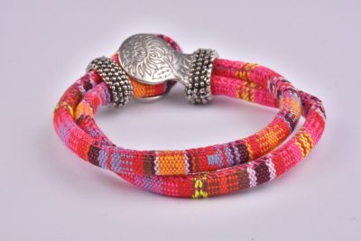 Red Mix Bohemian Ribbon Bracelet Collection