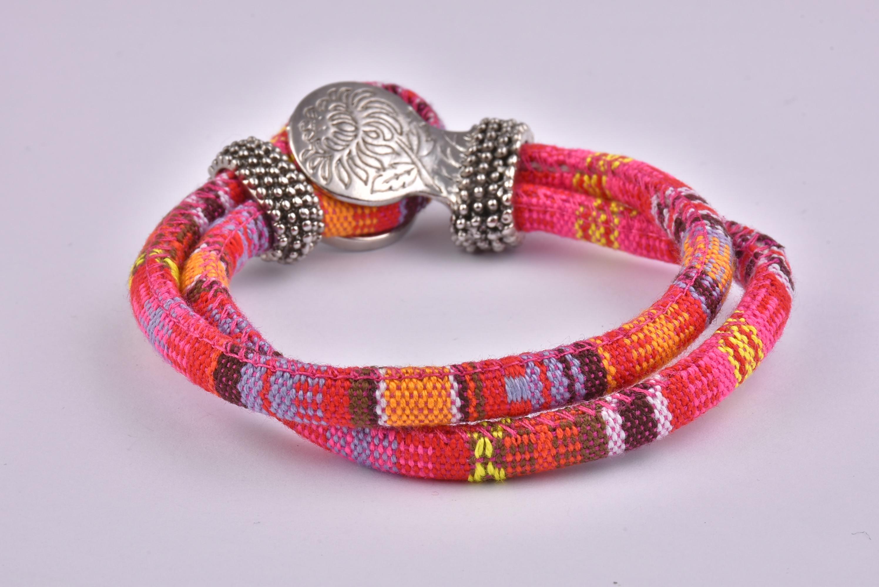 Red Mix Bohemian Ribbon Bracelet Collection