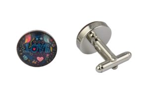 Colourful Love Cufflinks