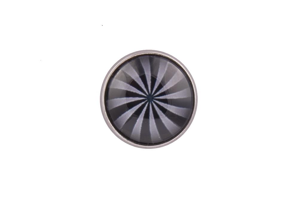 Grey Swirl Lapel Pin Badge
