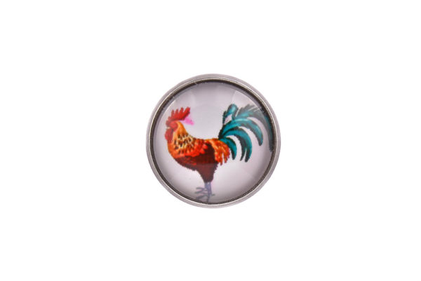 Rooster Lapel Pin Badge