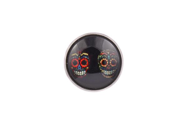 Mexican Skulls Lapel Pin Badge