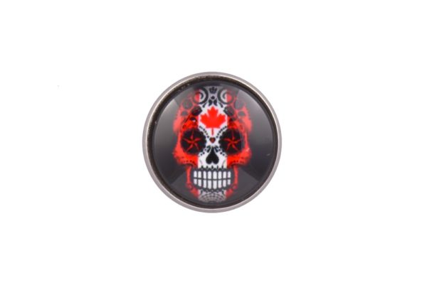 Canada Flag Sugar Skull lapel Pin Badge