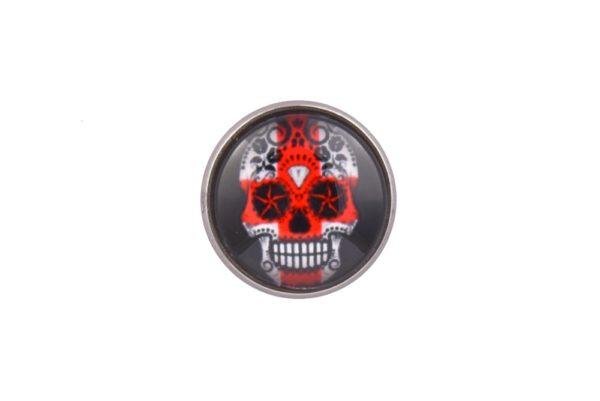 England Flag Sugar Skull lapel Pin Badge