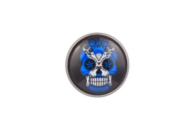 Scotland Flag Sugar Skull lapel Pin Badge