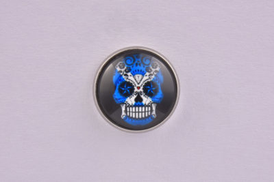 Scotland Flag Sugar Skull lapel Pin Badge