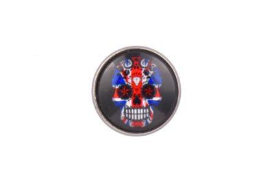 Union Jack Flag Sugar Skull lapel Pin Badge