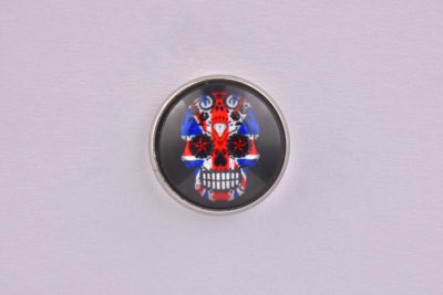 Union Jack Flag Sugar Skull lapel Pin Badge