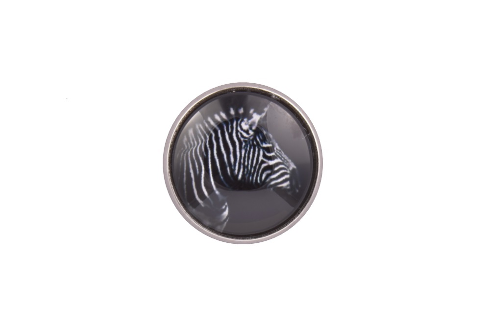 Zebra Lapel Pin Badge