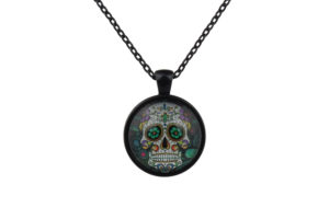 Mr Green Sugar Skull Necklace