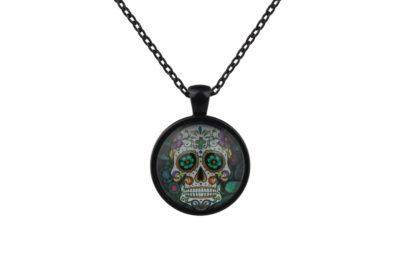 Mr Green Sugar Skull Necklace
