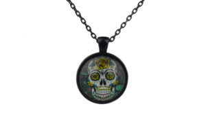 Mr Yellow Sugar Skull Necklace