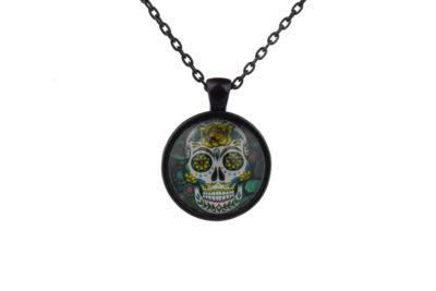 Mr Yellow Sugar Skull Necklace