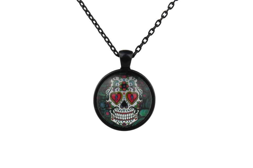 Mr Love Sugar Skull Necklace