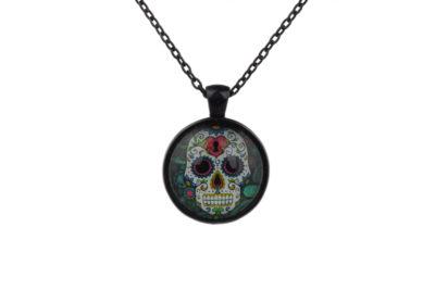 Mr Lock Sugar Skull Necklace
