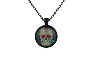 Mr Rose Sugar Skull Necklace