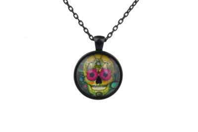 Mr Flowers Sugar Skull Necklace