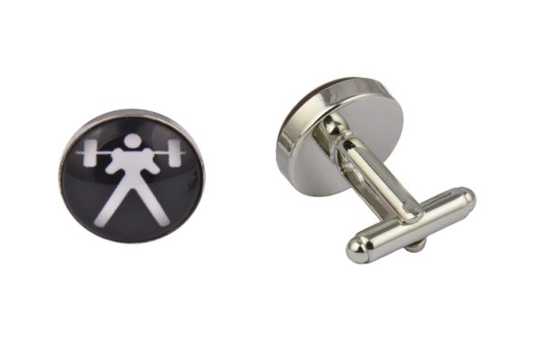 Weightlifting Cufflinks