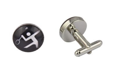 Badminton Player Cufflinks