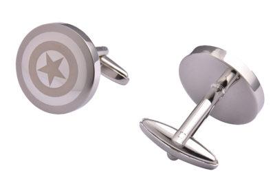 Silver Captain America Cufflinks