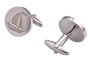 Silver Yacht Cufflinks