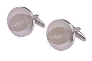 Silver Rugby Cufflinks