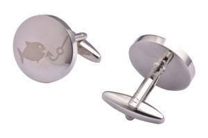 Silver Fishing Cufflinks