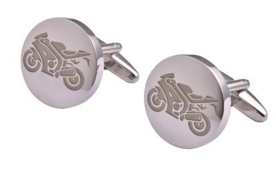 Silver Motorbike Cufflinks