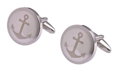 Silver Anchor Cufflinks