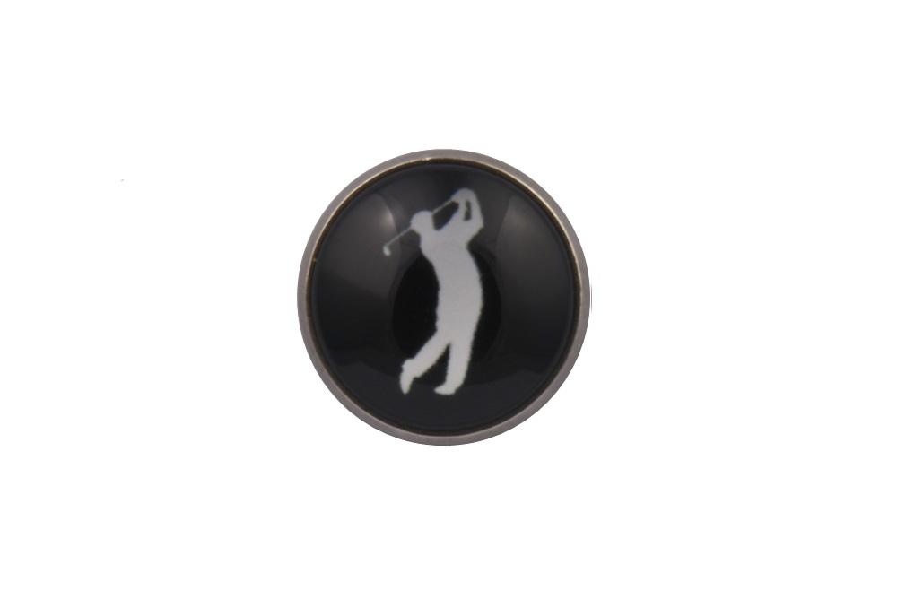 Golf Player Lapel Pin Badge