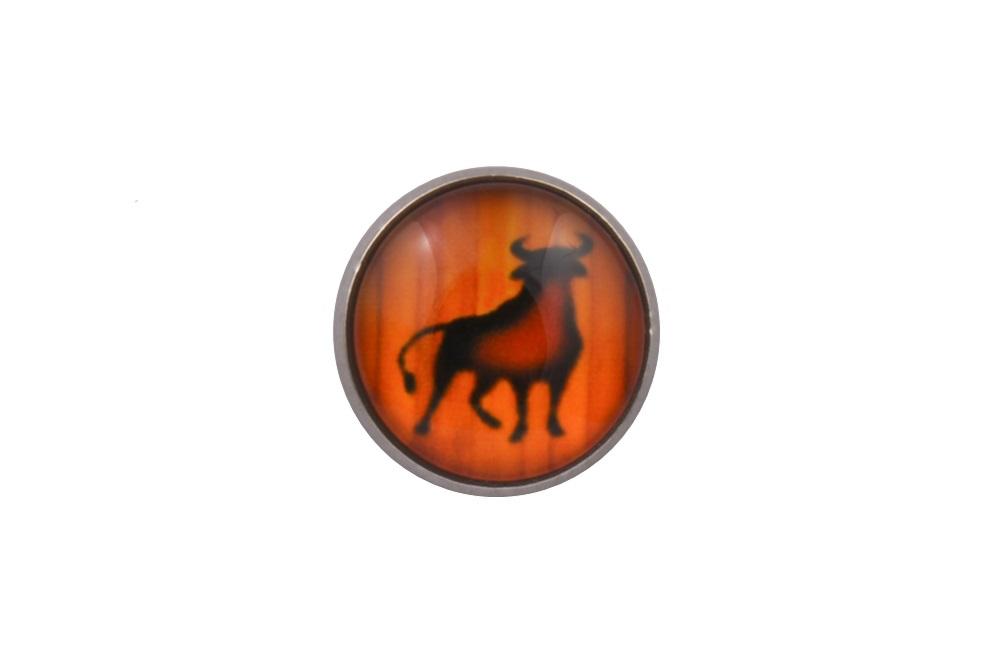 Bull Lapel Pin Badge