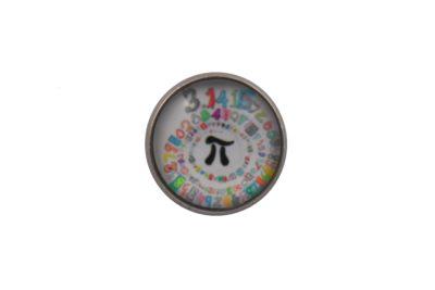 Pi Twirl Lapel Pin Badge